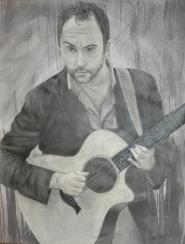 Dave Matthews - charcoal and ink.