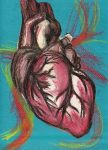 Heart - pastel